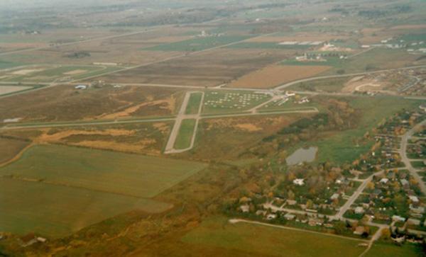 Maple Ontario aerial shot